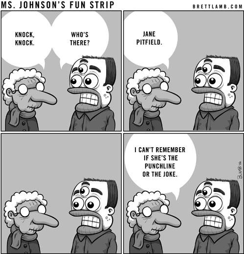 ms johnson comic strip